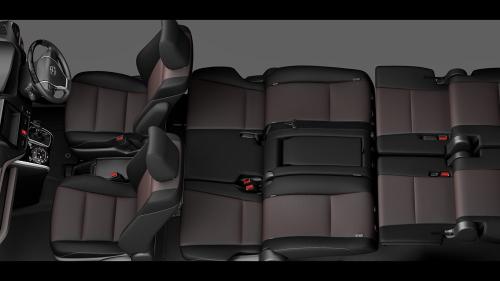 エスクァイアの8人乗りのシートアレンジ・リヤフラットソファモード