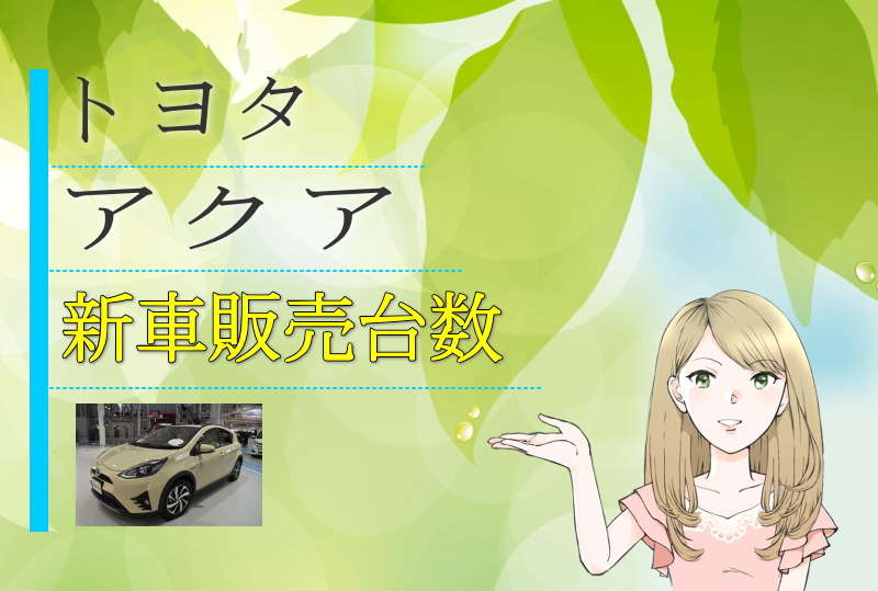 アクアの新車販売台数