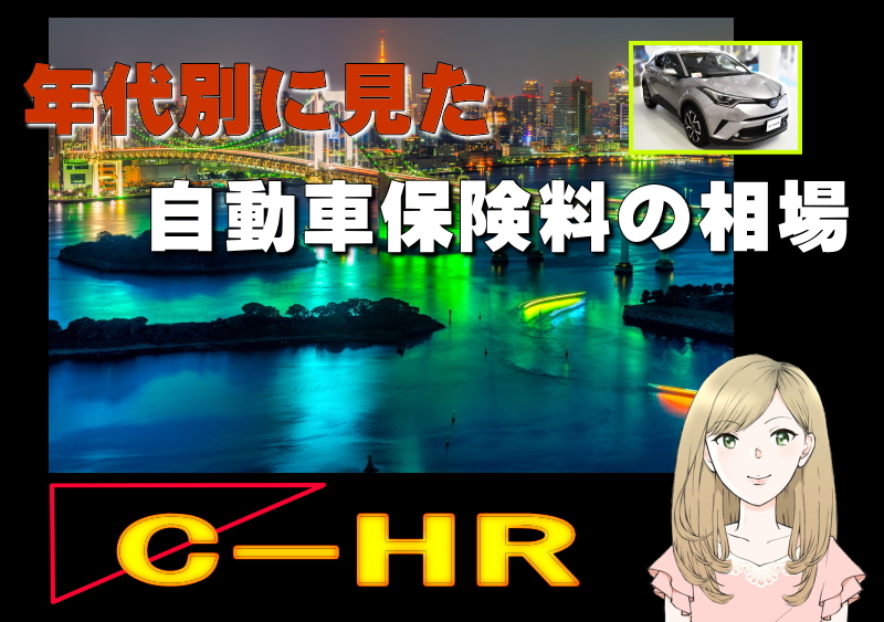 C-HRの年代別に見た自動車保険料の相場