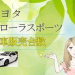 トヨタ カローラスポーツ/オーリス 新車販売台数推移