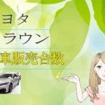 トヨタ クラウン 新車販売台数推移