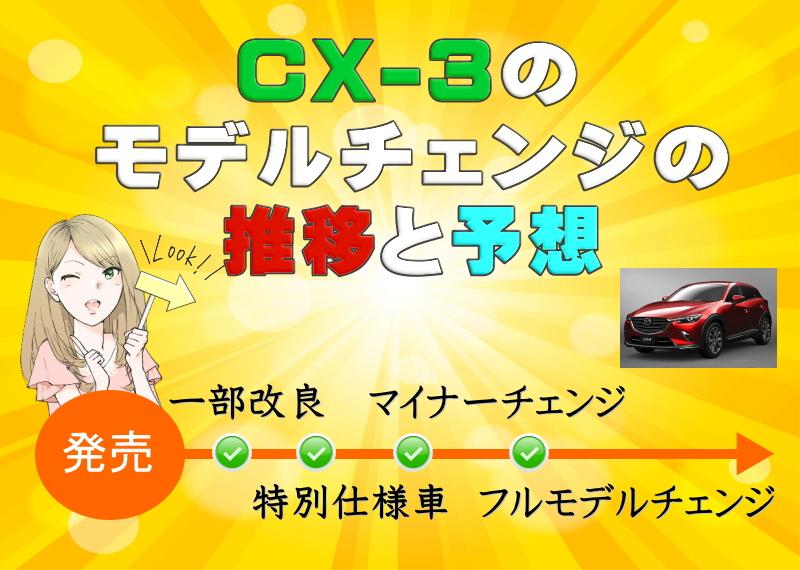 CX-3のモデルチェンジ推移&予想