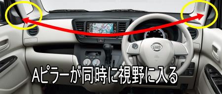 デイズルークスの車幅感覚はつかみやすい。