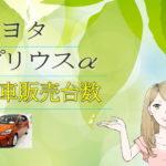 トヨタ プリウスα 新車販売台数