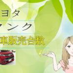 トヨタ タンク 新車販売台数推移