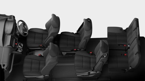 ヴォクシーの7人乗りのシートアレンジ・後席トライアングルモード
