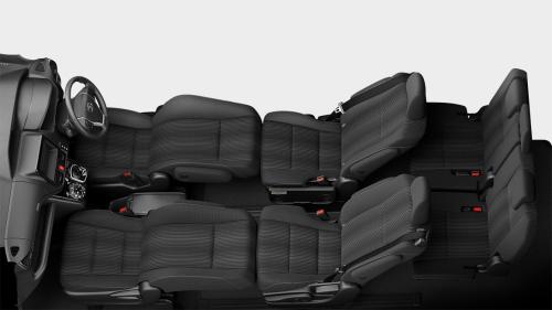 ヴォクシーの7人乗りのシートアレンジ・フロントフラットソファモード