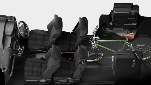 ヴォクシーの7人乗りのシートアレンジ・ビッグラゲージモード