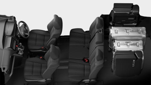 ヴォクシーの8人乗りのシートアレンジ・ラゲージモード