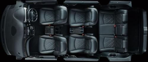 エルグランドの7人乗りのシートアレンジ・定員乗車(サードシート前方スライド)モード
