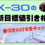 CX-30の最新目標値引き相場