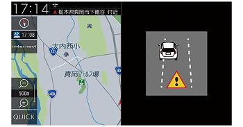 フリードの車線キープサポート画面
