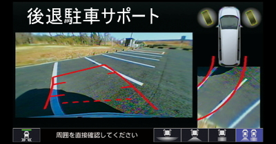 フィットのリアカメラ de あんしんプラス2のナビ画面