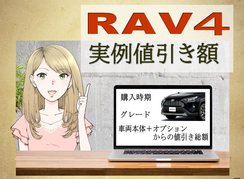 RAV4の実例値引き額