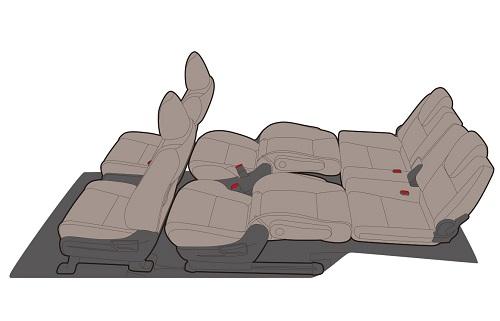 フリードの6人乗りの2列目・3列目アレンジモード