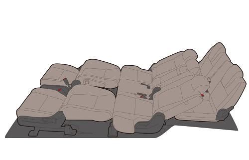 フリードの7人乗りの1列目・2列目アレンジモード